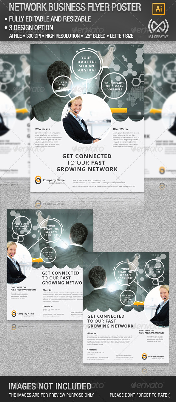 Network Business Flyer Poster - Corporate Flyers