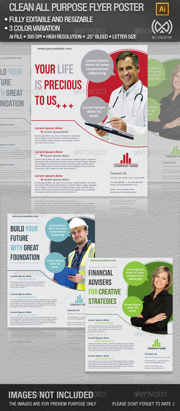 Clean All Purpose Flyer Poster - Corporate Flyers