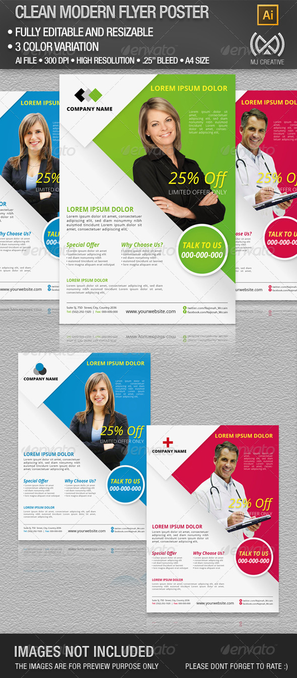 Clean Corporate Flyer & Poster - Corporate Flyers