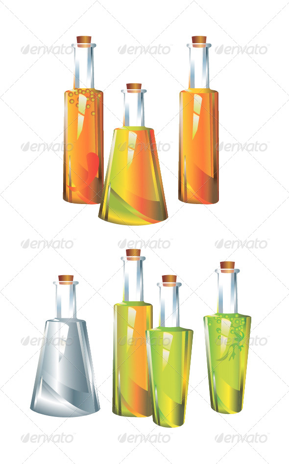 Original Glass Bottles - Food Objects
