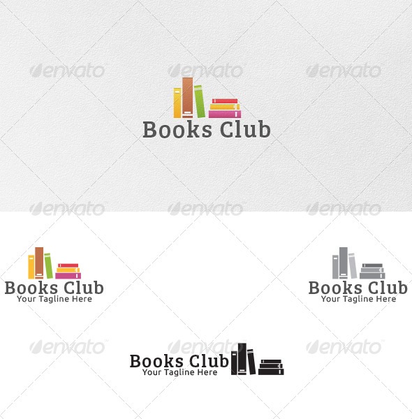Books Club - Logo Template - Objects Logo Templates