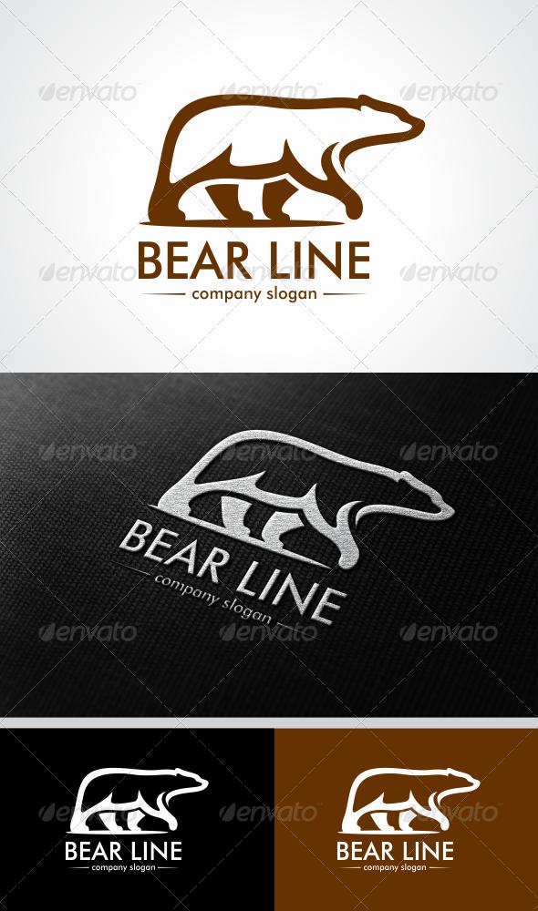 Bear Line  - Animals Logo Templates