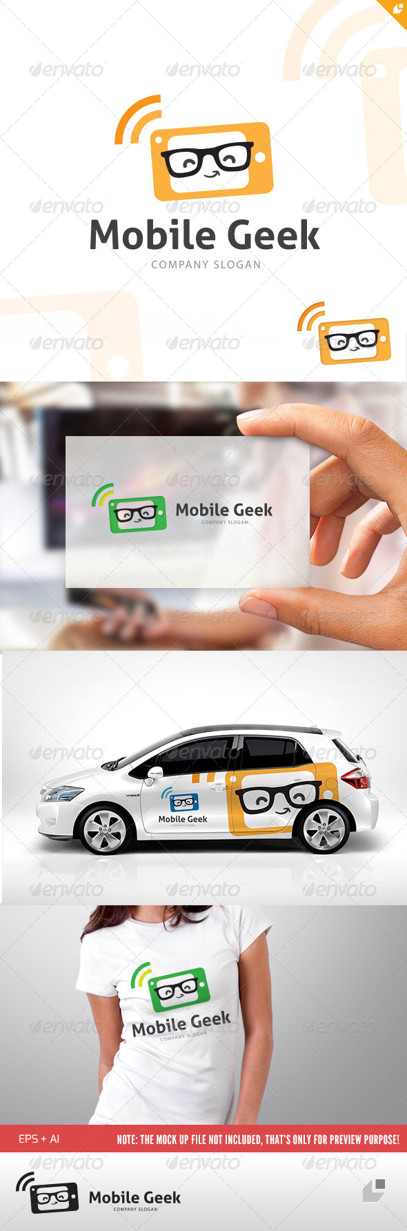 Mobile Geek Logo - Objects Logo Templates