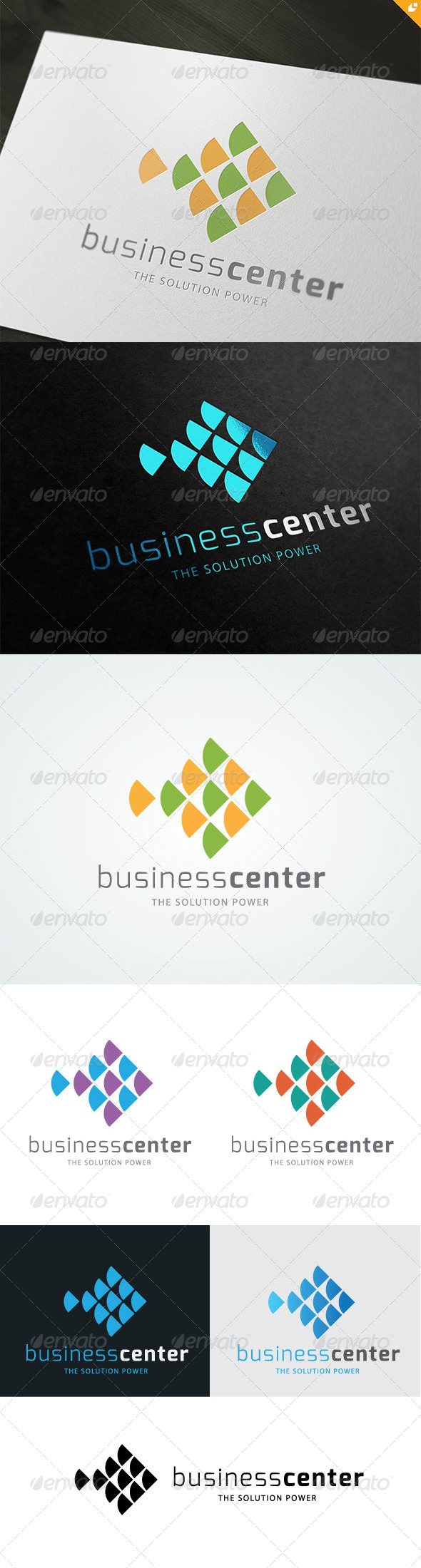 Fish Business Center Logo  - 3d Abstract