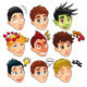 Various expressions of boys.  - GraphicRiver Item for Sale