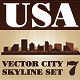 Vector City Skyline USA Set Number 7 - GraphicRiver Item for Sale
