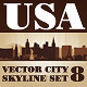 Vector City Skyline USA Set Number 8 - GraphicRiver Item for Sale