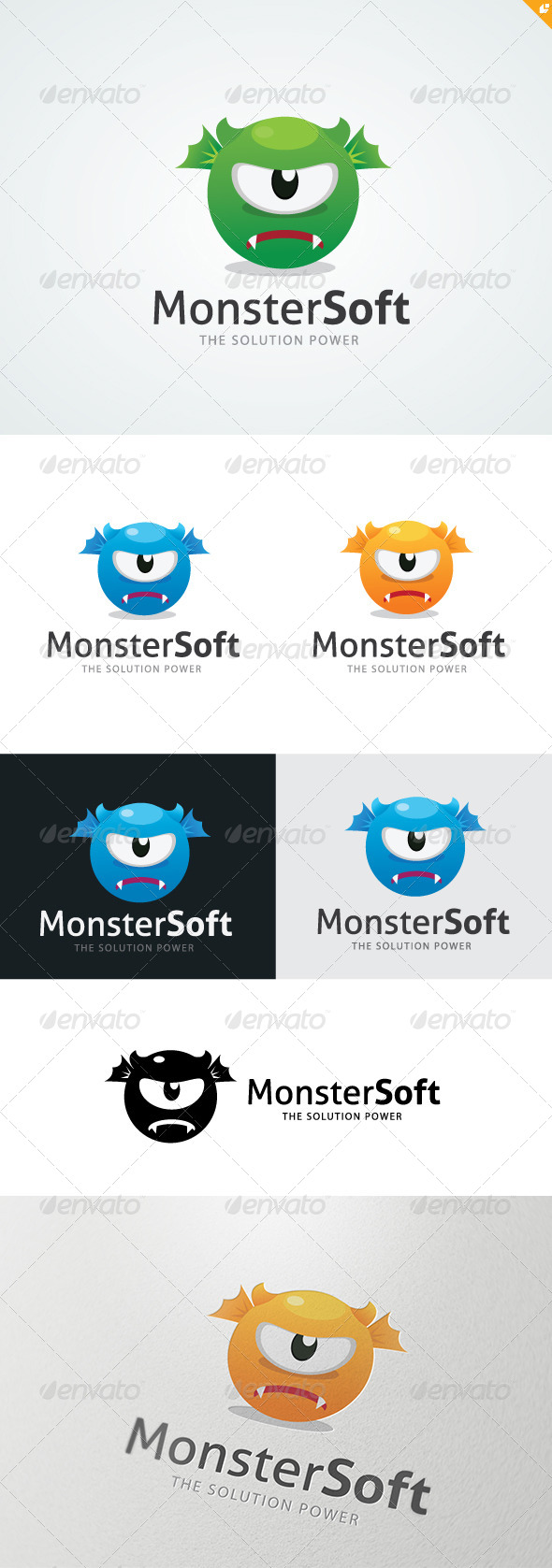 Monster Soft Logo - Vector Abstract