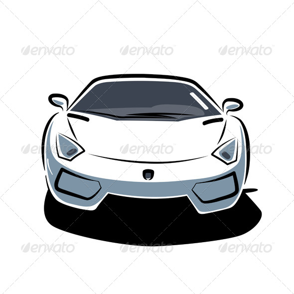 Front of Sport Car - Man-made Objects Objects