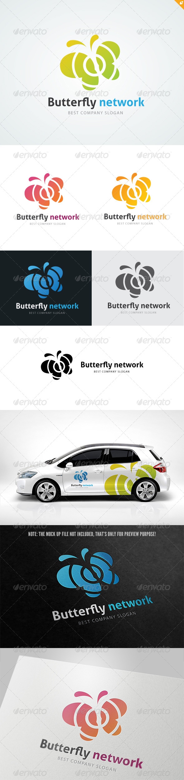 Butterfly Network Logo - Animals Logo Templates