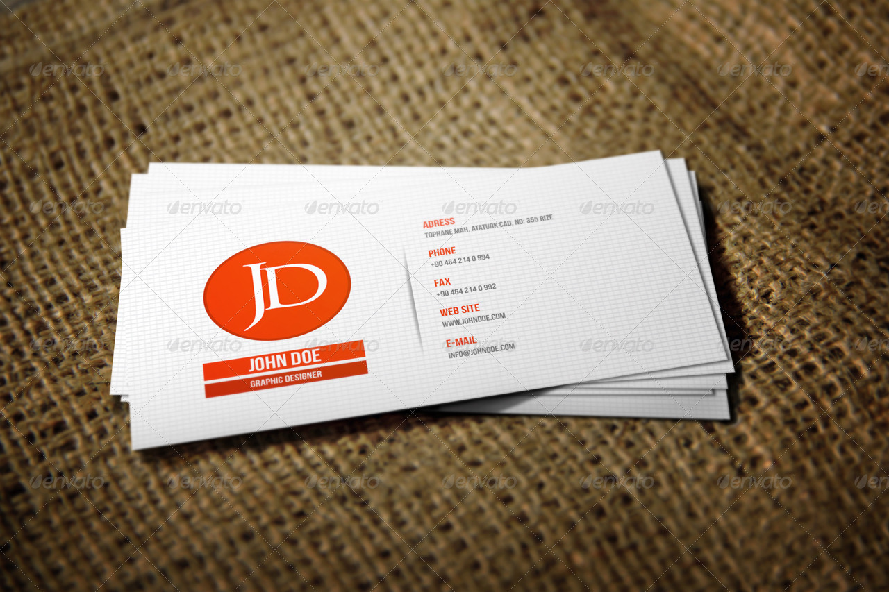 2 Realistic Business Card Mock-Ups by Mejora | GraphicRiver