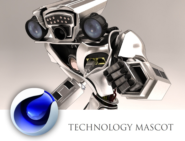 Technology Mascot - 3DOcean Item for Sale