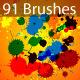 Splatter Brushes Set Vector  - GraphicRiver Item for Sale