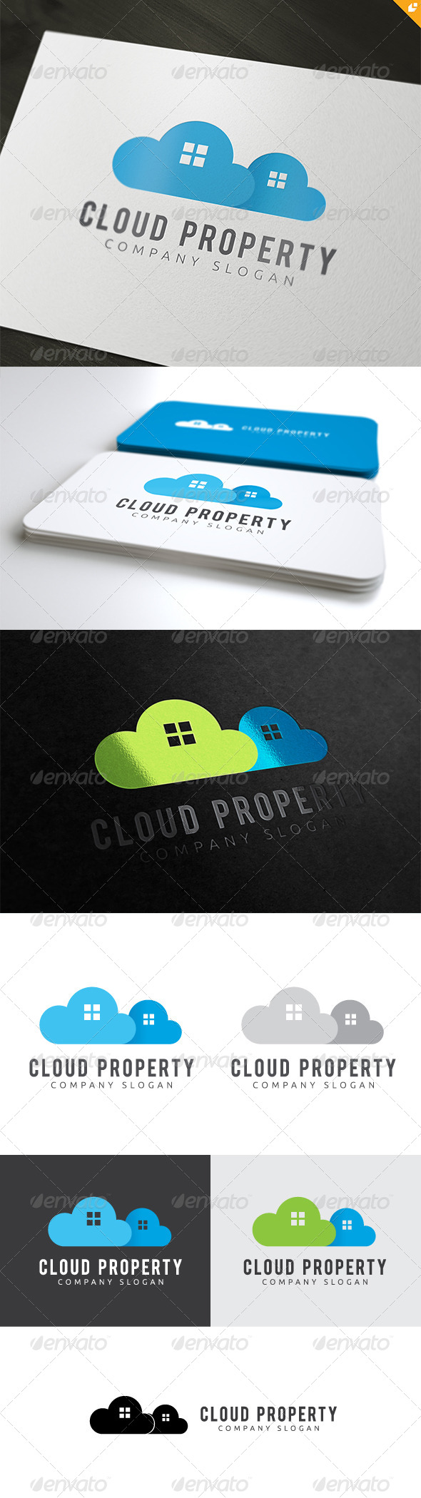 Cloud Property Logo - Buildings Logo Templates