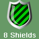8 vector shield icon - metalic - GraphicRiver Item for Sale