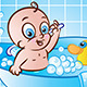 Happy Baby Boy in Tub - GraphicRiver Item for Sale
