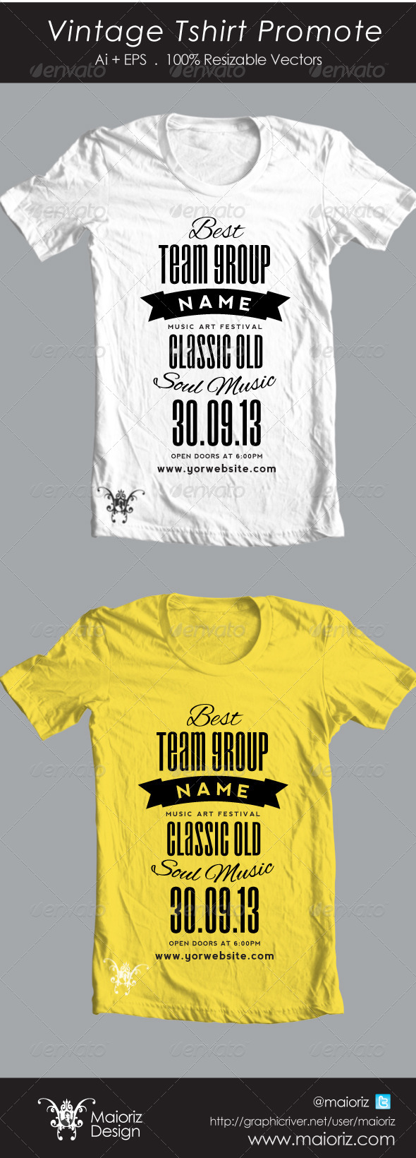 Vintage Promote Tshirt - Events T-Shirts