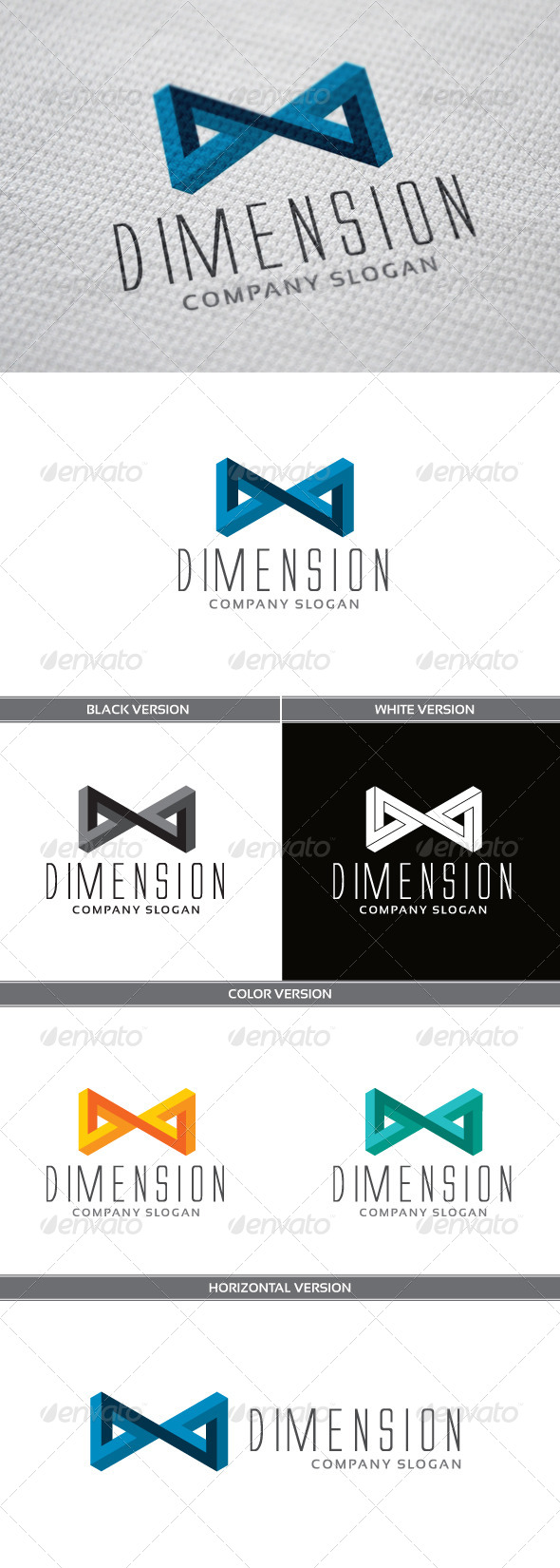 Dimension Logo - Symbols Logo Templates