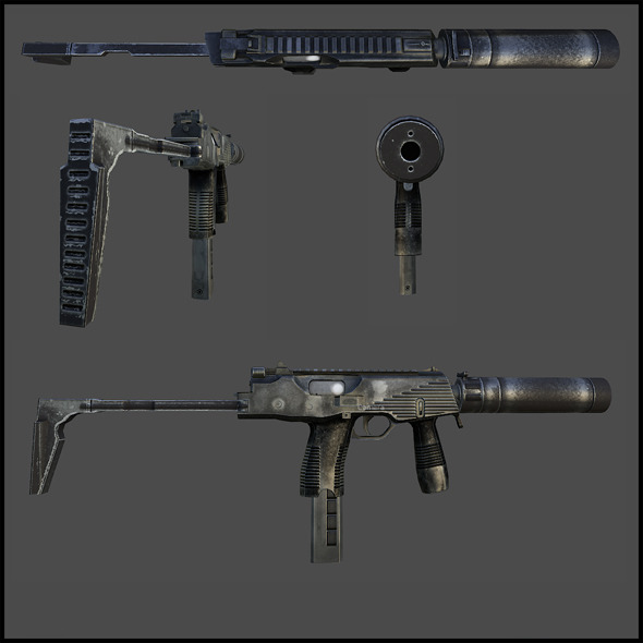 MP9 submachine gun - 3DOcean Item for Sale