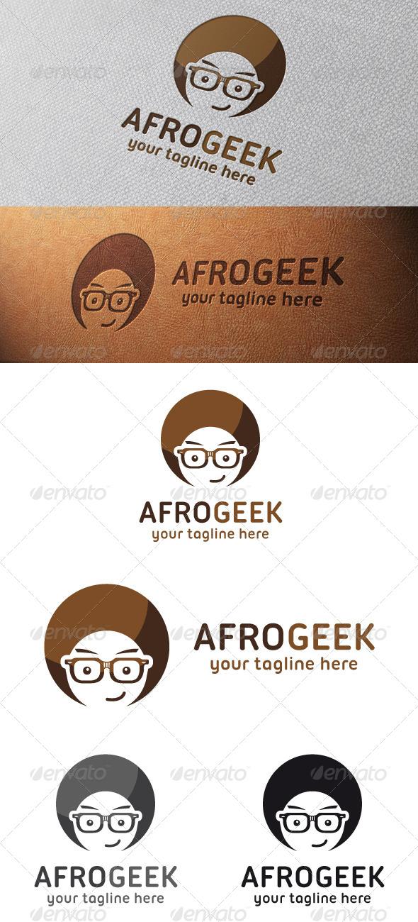 Afro Geek Logo Template - Humans Logo Templates
