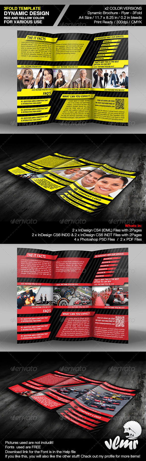 Dynamic Brochure 3Fold Template - Corporate Brochures
