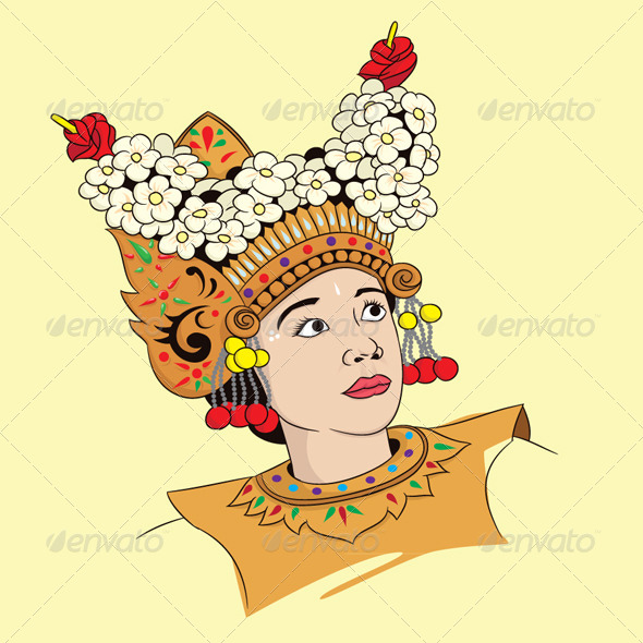 Legong Dance - People Characters