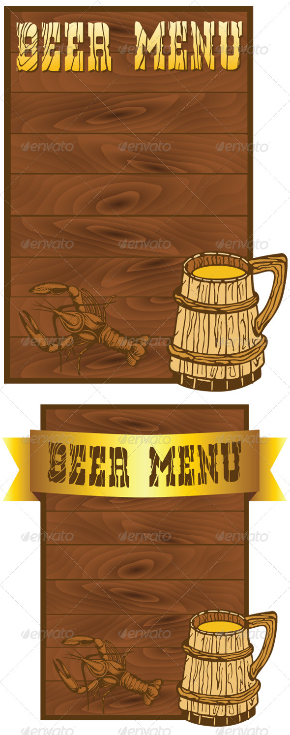 Beer Menu Templates - Food Objects