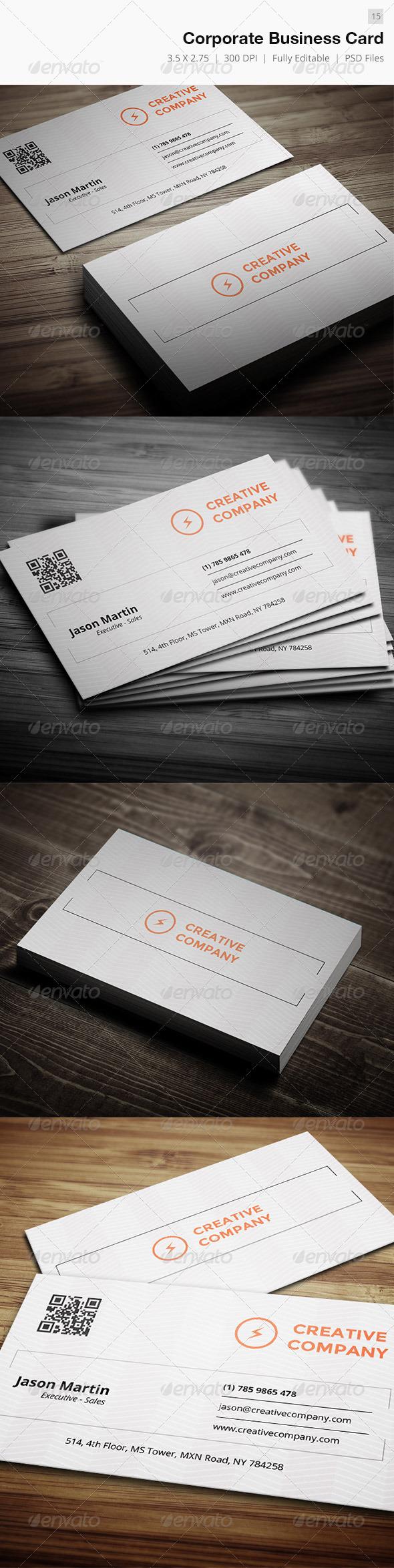 Corporate Business Card - 15 - Corporate Business Cards