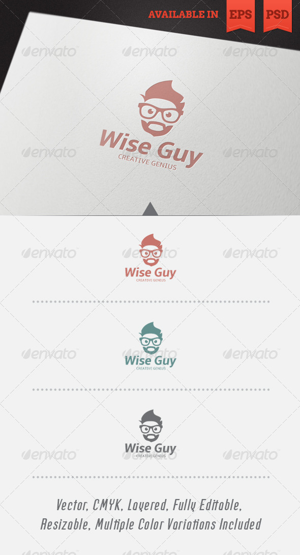 Wise Guy Logo Template V2 - Humans Logo Templates