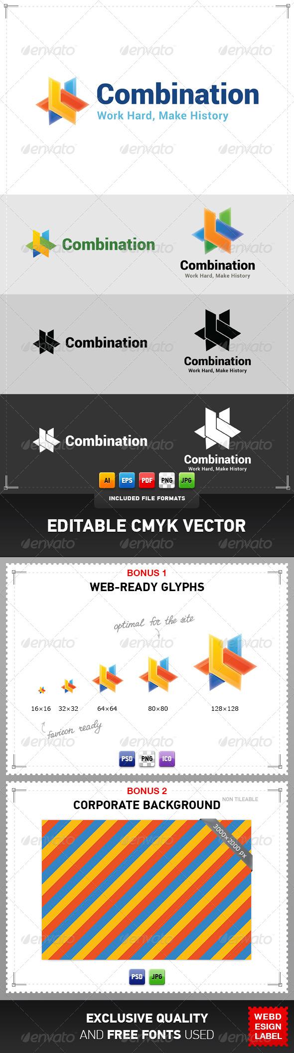 Combination Logo - Abstract Logo Templates