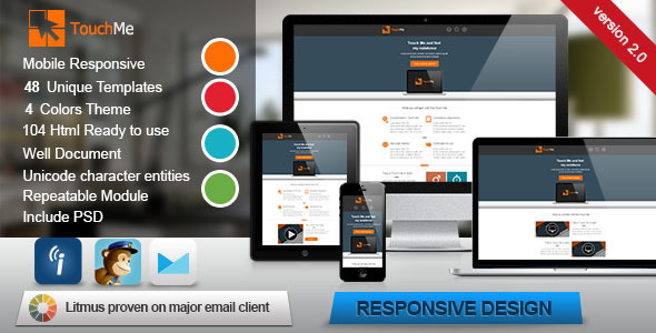 Touch Me - Responsive Email Templates  - Email Templates Marketing