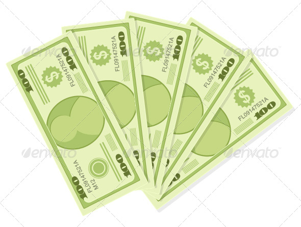 One Hundred Dollars Banknotes - Concepts Business