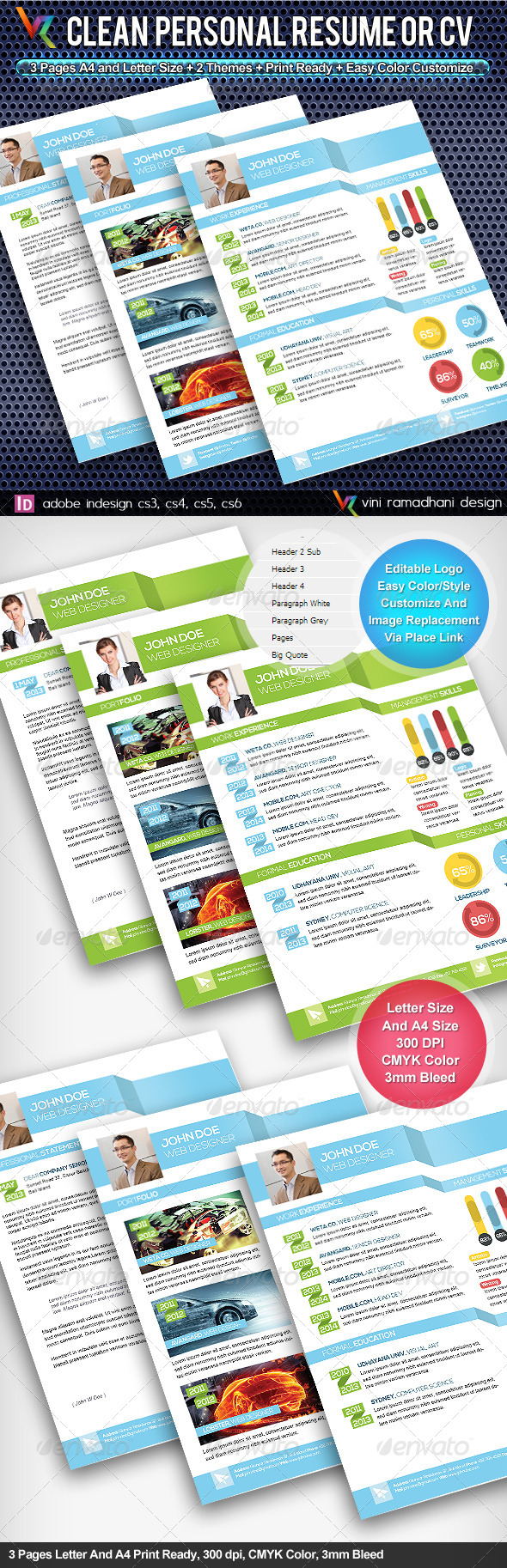 Clean Resume And CV - Resumes Stationery