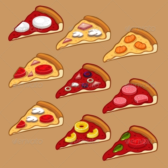 Pizza con set - Food Objects