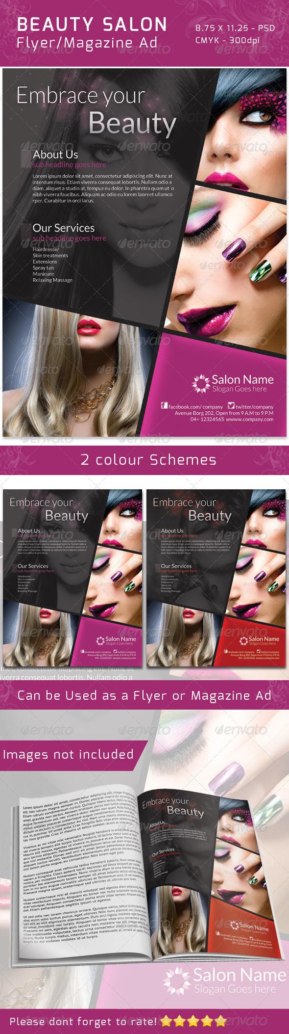 Classy Salon Flyer/ Magazine Ad - Commerce Flyers