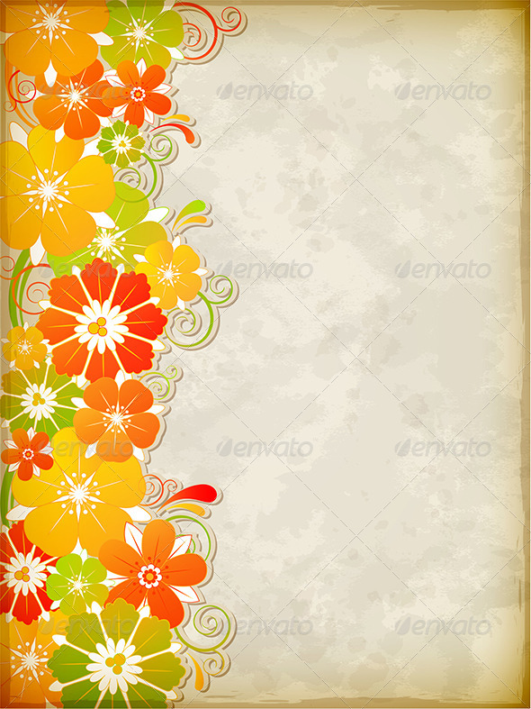 Yellow Floral Background - Flowers & Plants Nature