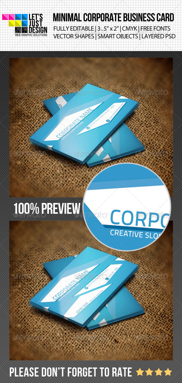 Minimal Corporate Business Card - Corporate Business Cards