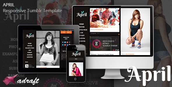 April - Responsive Tumblr Theme - Miscellaneous Tumblr