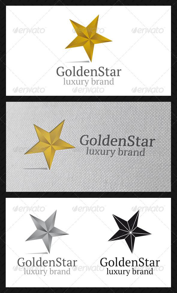 Golden Star Logo Template - Symbols Logo Templates