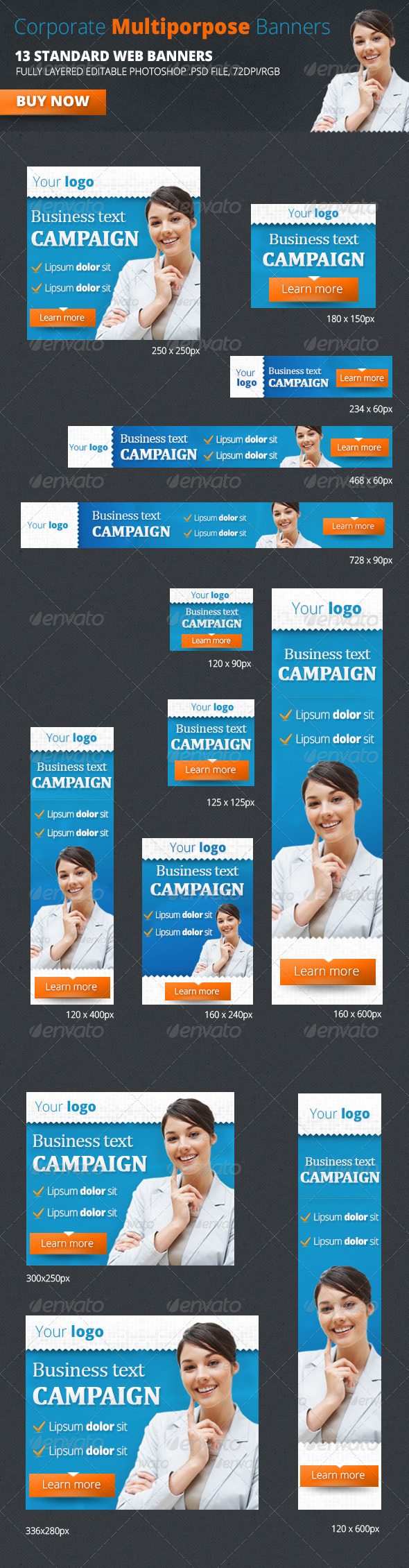Corporate Multiporpose Banners - Banners & Ads Web Elements