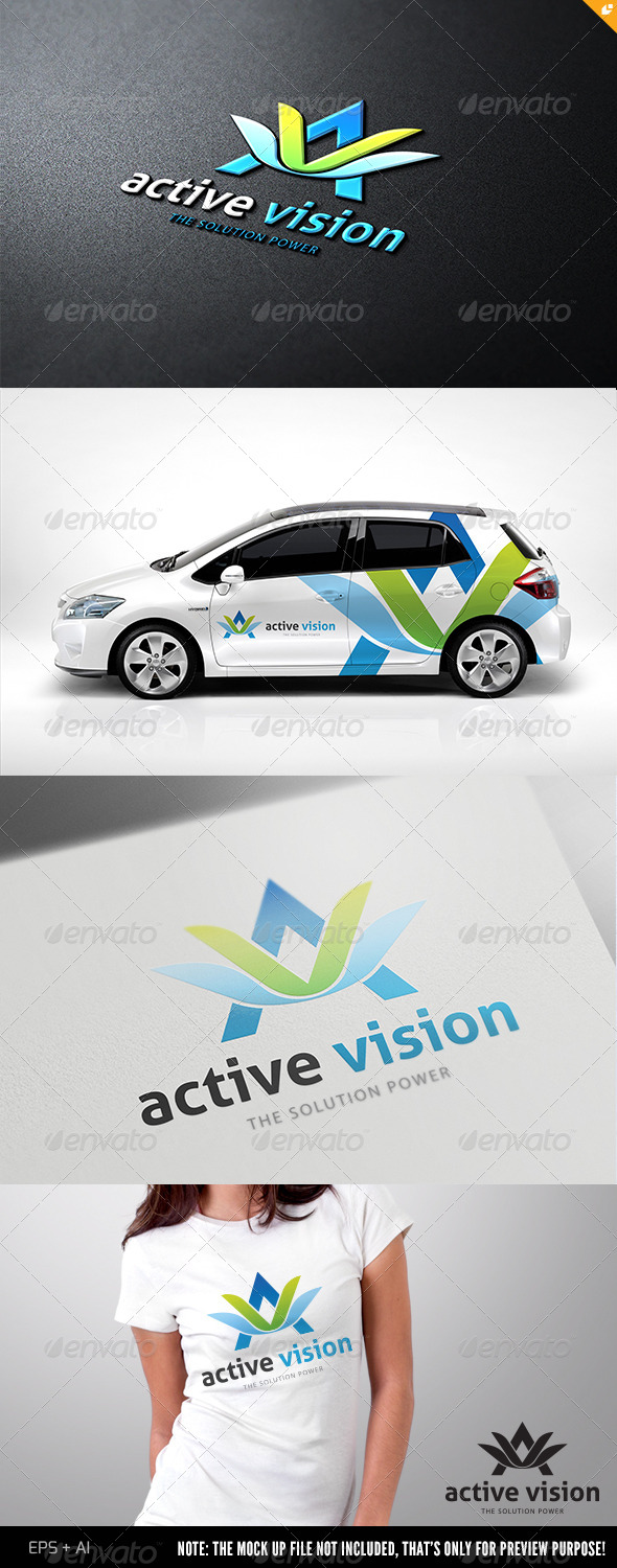 Active Vision Logo  - 3d Abstract