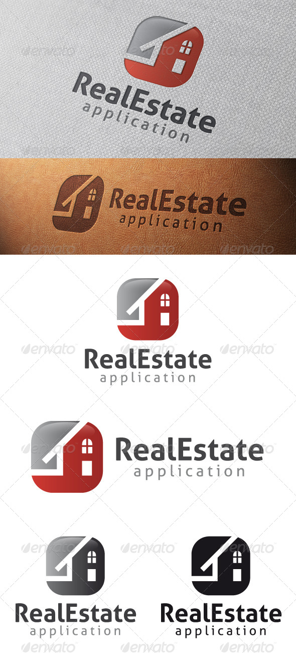 Real Estate App Logo Template - Buildings Logo Templates