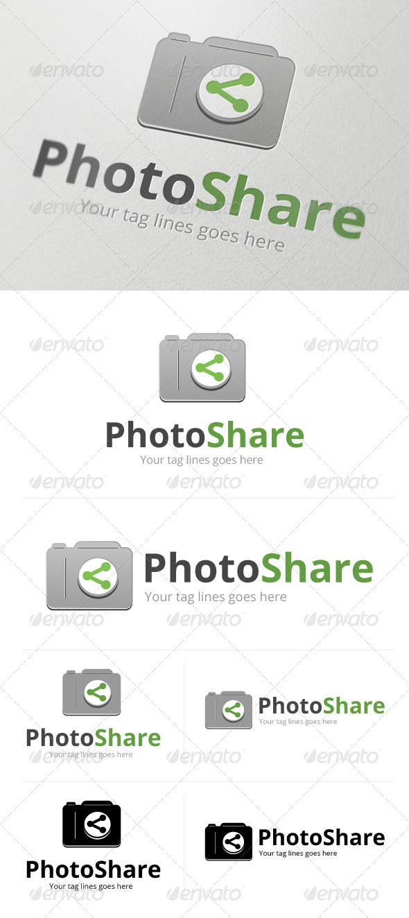PhotoShare Logo - Objects Logo Templates