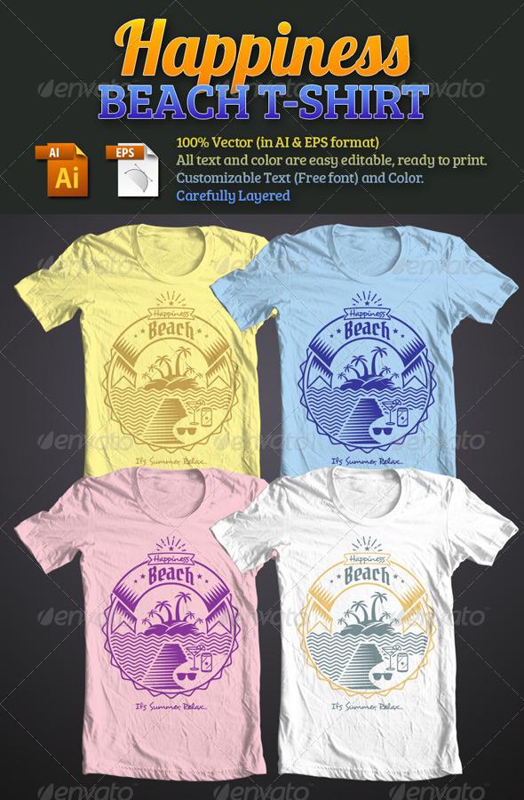 Happiness Beach T-Shirt - T-Shirts