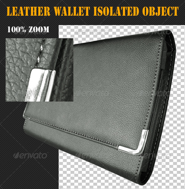 Leather Wallet Isolated Object - Clothes & Accessories Isolated Objects