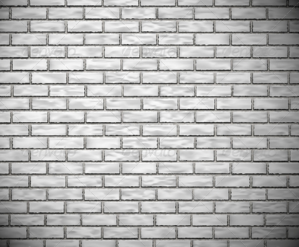 White Brick Wall - Backgrounds Decorative
