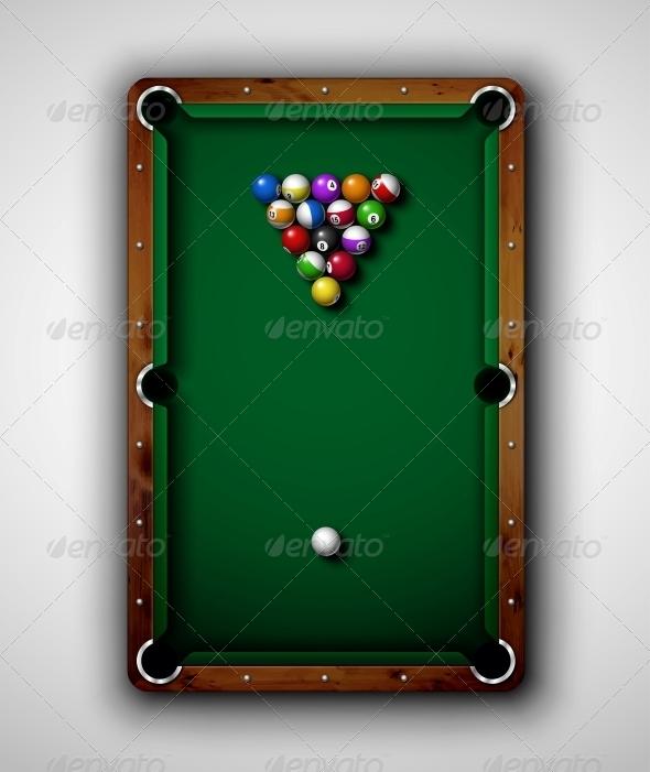 Billiard Table - Sports/Activity Conceptual