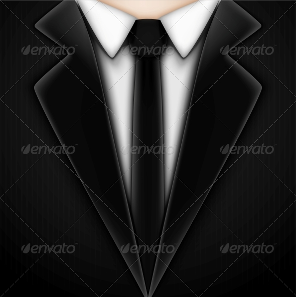 Black Tuxedo with Tie - Retail Commercial / Shopping