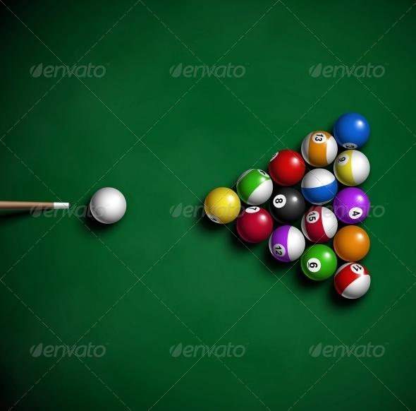 Billiard Balls - Sports/Activity Conceptual