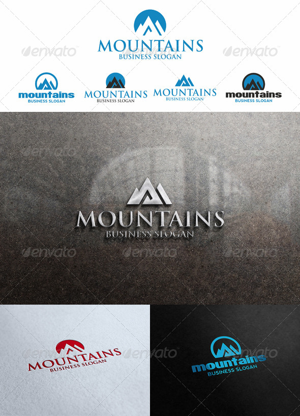 Mountains Peak Logo Templates - Nature Logo Templates